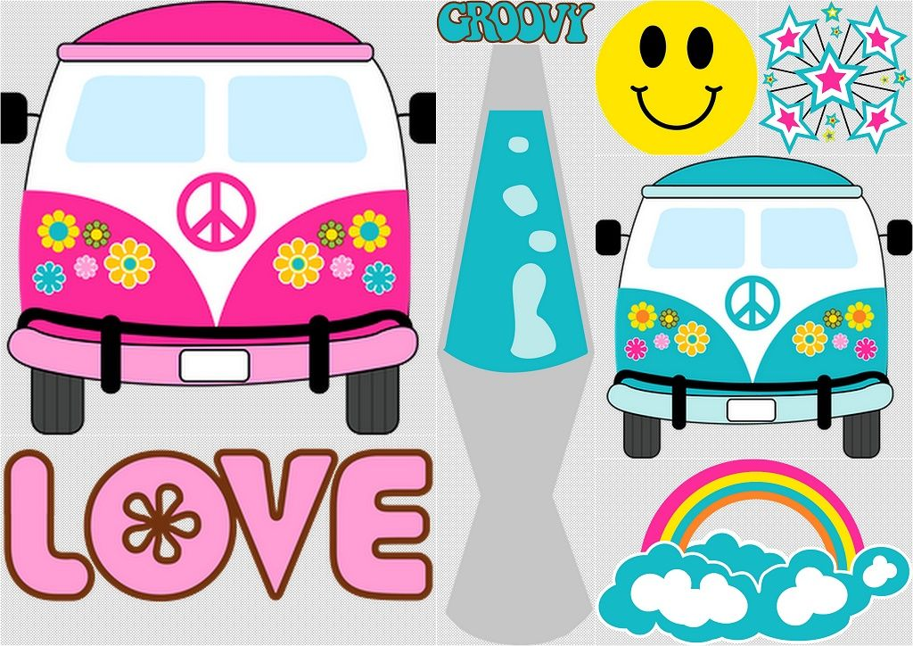 Hippy Party Clip Art..