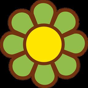 Flores y Símbolos del Clipart para Fiesta Hippy..
