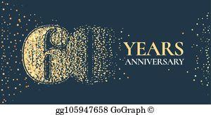 60Th Anniversary Clip Art.
