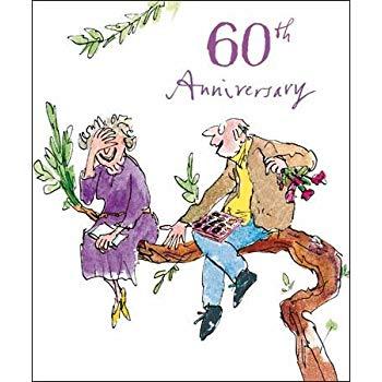 Woodmansterne 60th Wedding Anniversary Card (9303).