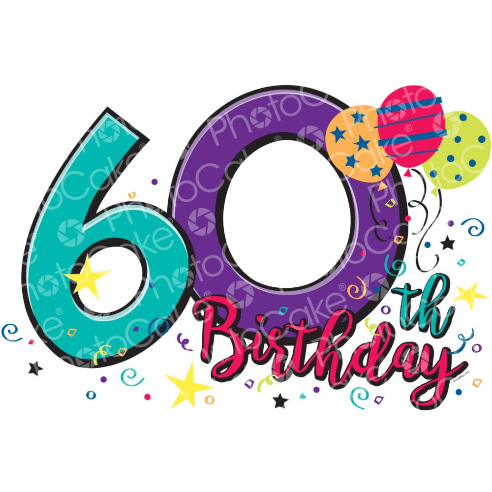 PhotoCake Happy 60th Birthday.