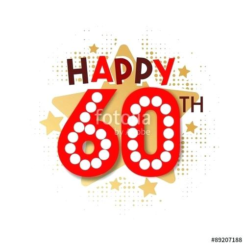 60th birthday clipart.