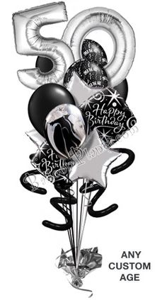 60th birthday photo booth props: printable PDF. Black and silver.