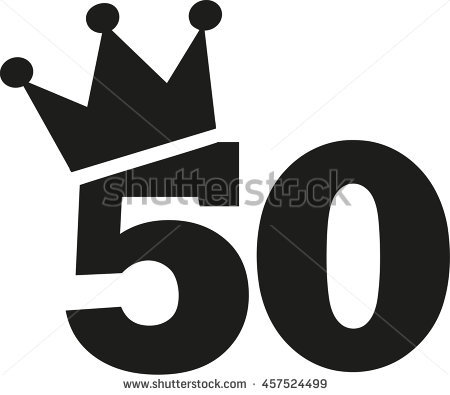 50th Birthday Stock Images, Royalty.