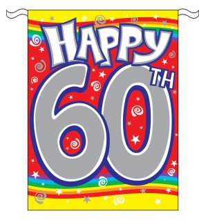 60th Birthday Clipart Outline Black Aand White.