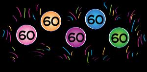 60 birthday clipart.