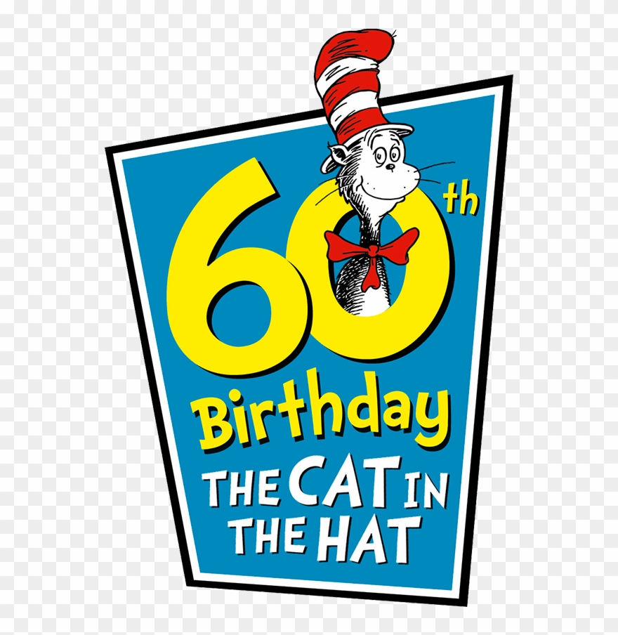 The Cat In The Hat 60th Birthday Clipart.