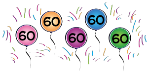 Clipart 60th birthday 7 » Clipart Station.
