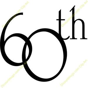 Free 60th Birthday Clipart.