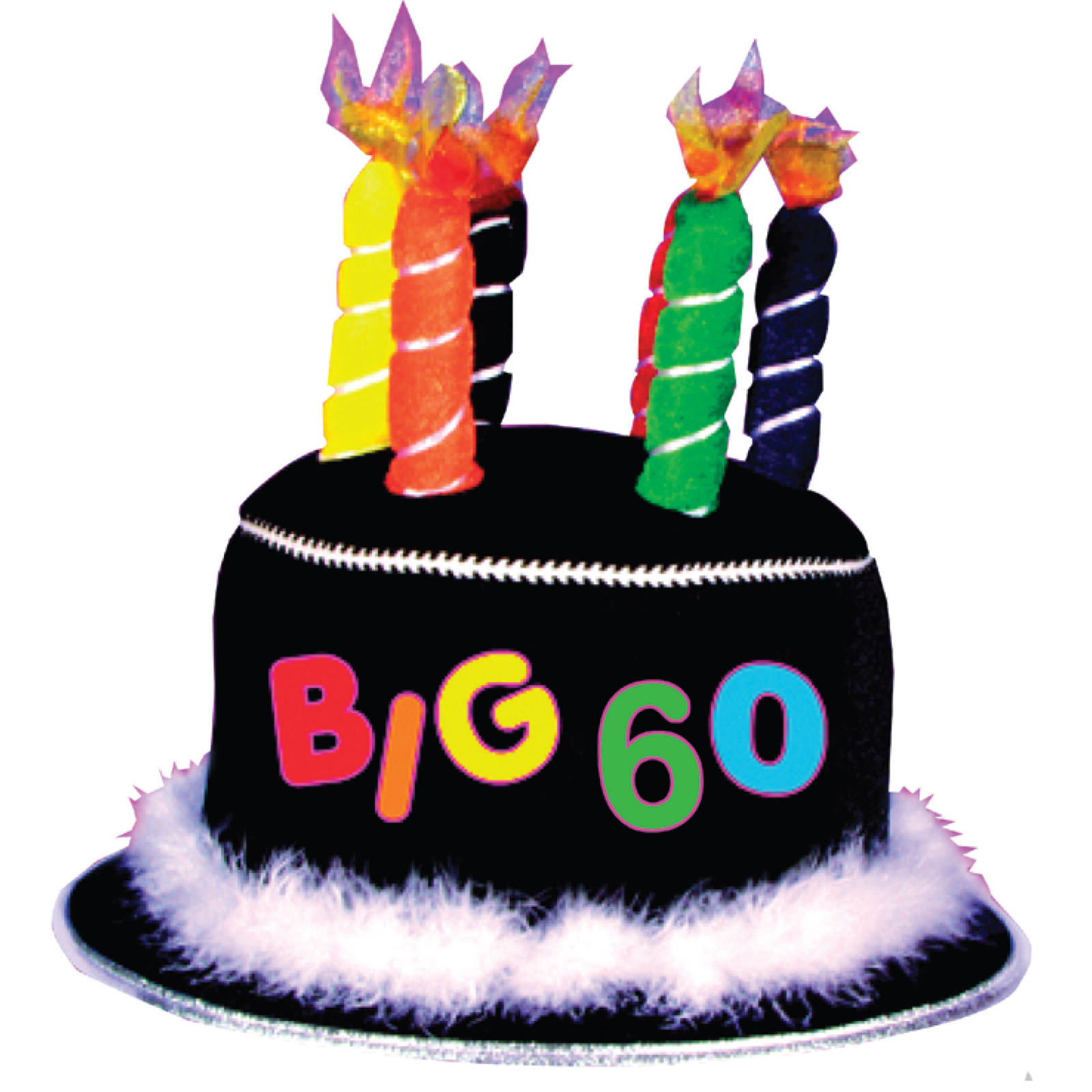 Cheap Over The Hill 60th Birthday Candle Hat At.