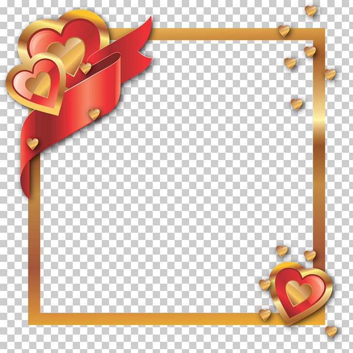 Valentine\'s Day , 60th gold PNG clipart.