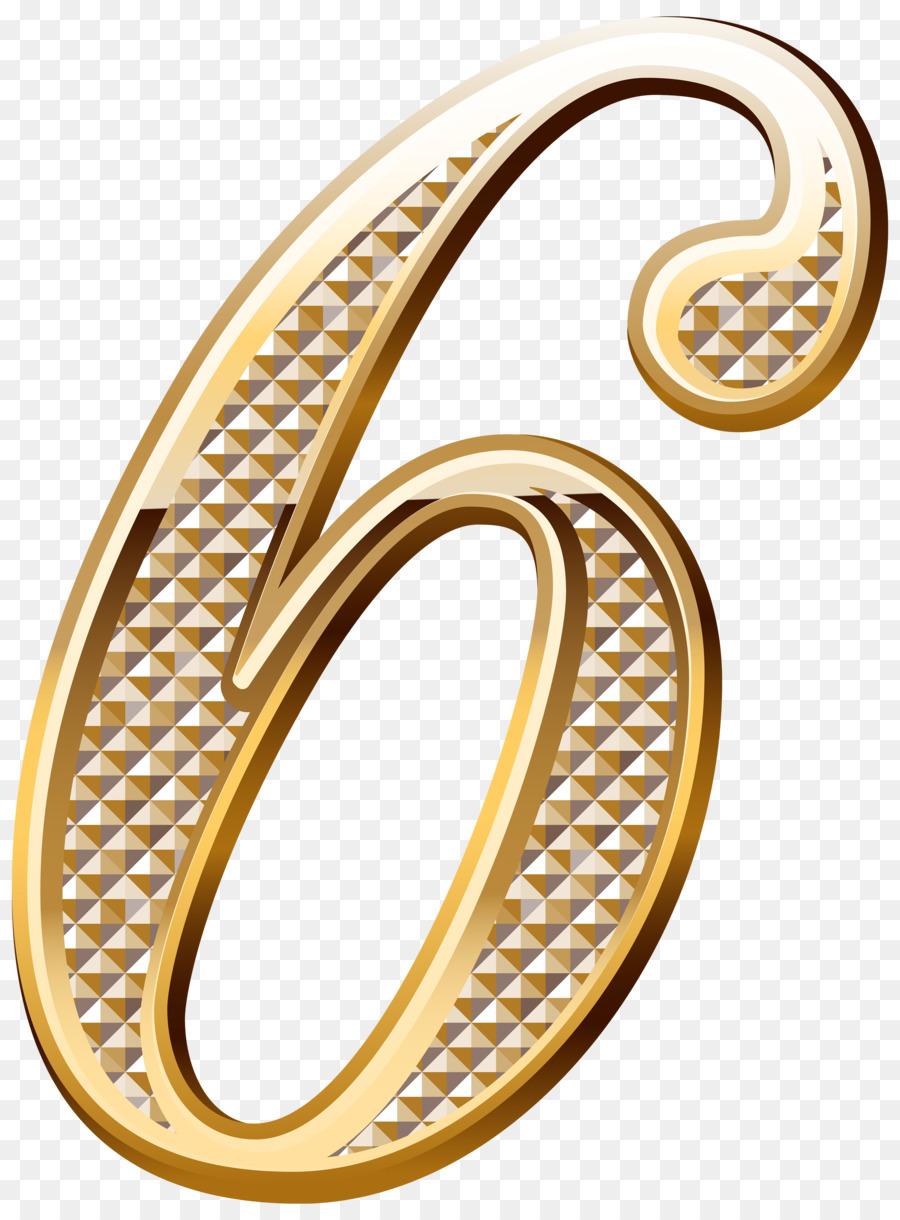 Number Gold Clip Art.
