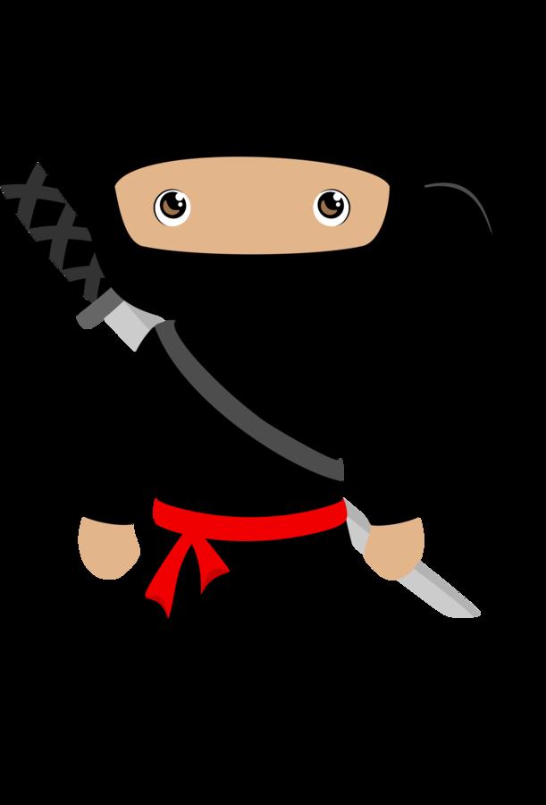 Ninja Child Clip art.