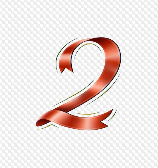 62 PSD, 62 PNG, Letters red ribbons, numbers red ribbons.