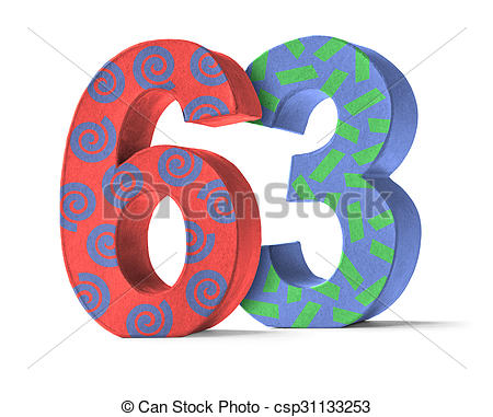 Stock Images of Number 63.