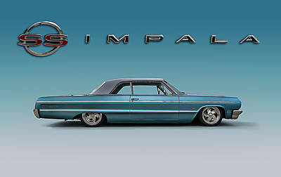 Amazing Chevrolet Impala Digital Art.