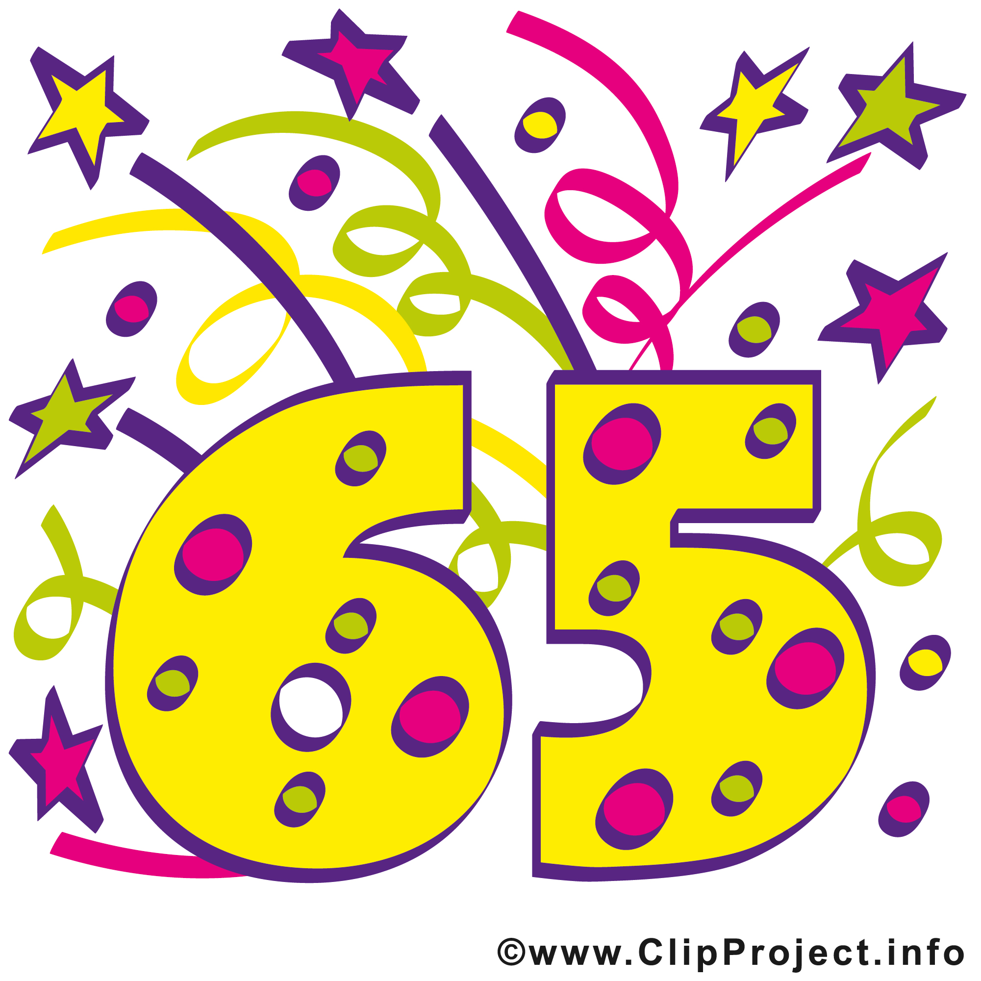 65 Geburtstag Clipart.