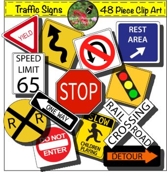Growing Traffic Signs Clip Art.
