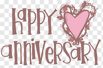 Anniversary cutout PNG & clipart images.