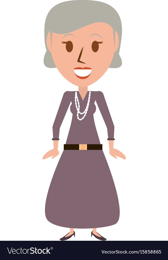 Retro old woman cartoon.