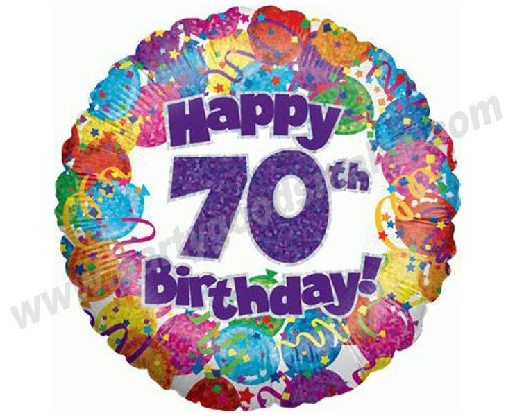 free 70th birthday clip art.