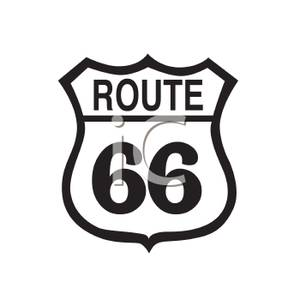 Route 66 Sign Clipart.