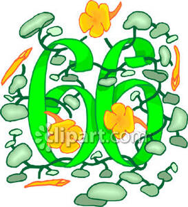 Number 66 Clipart.