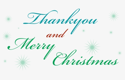 Free Christmas Thank You Clip Art with No Background.