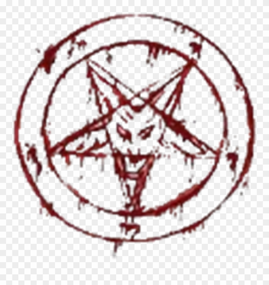 Red Devil Satan Pentagram 666 Blood Bloody Lucifer.