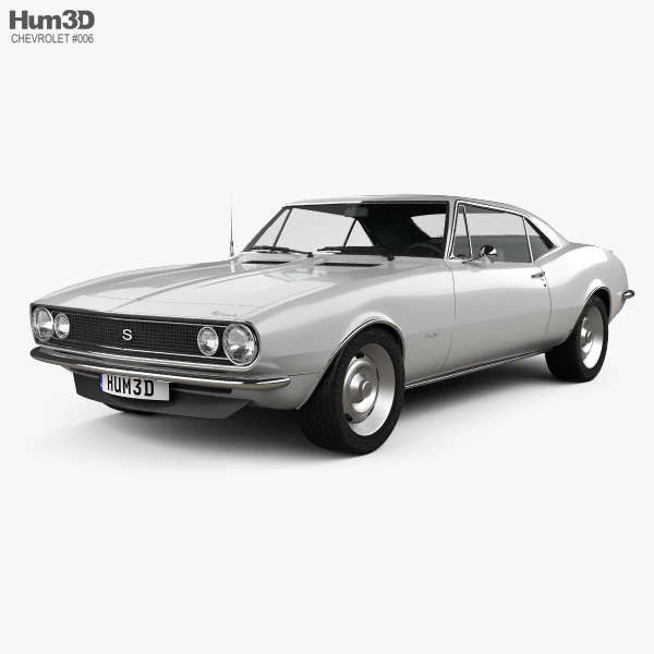 Chevrolet Camaro SS 1967 3D model.