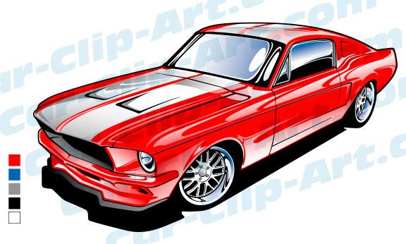 1967 Ford Mustang Vector Art — Car.