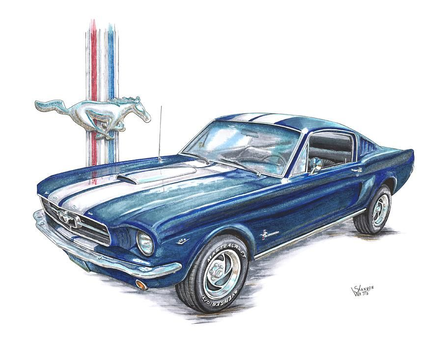 1965 Ford Mustang by Shannon Watts.