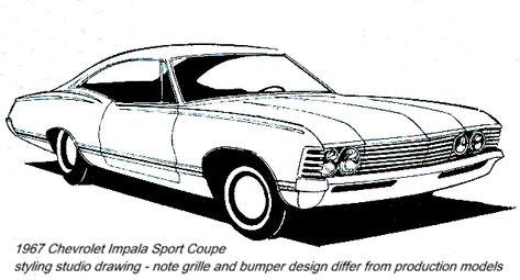 1967 chevrolet impala.