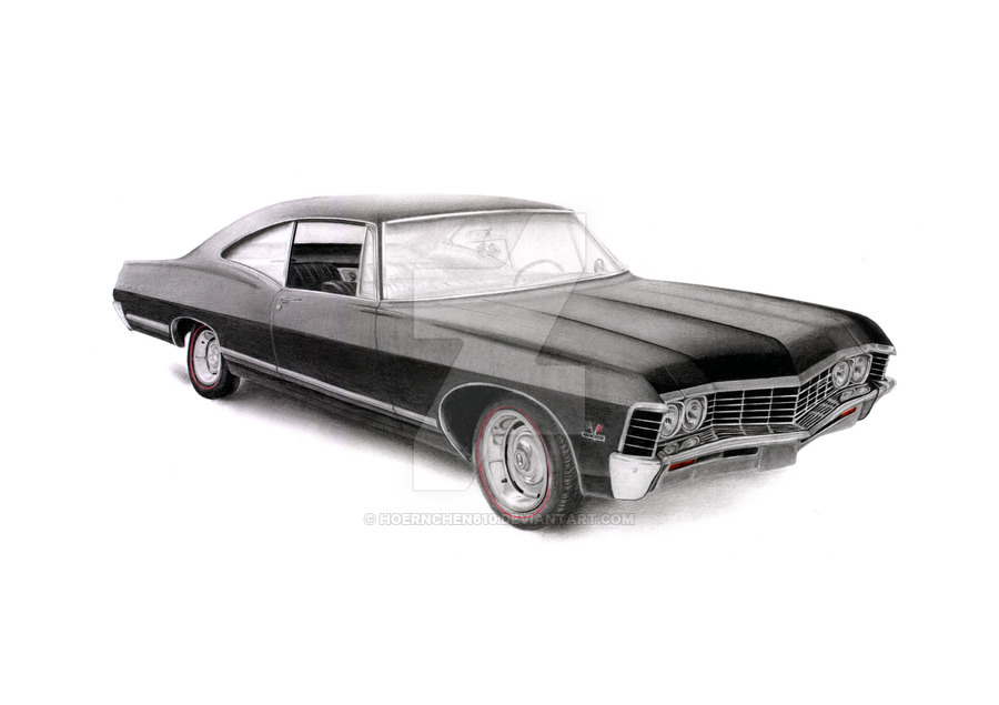 1967 Chevy Impala Clipart Transparent Background.