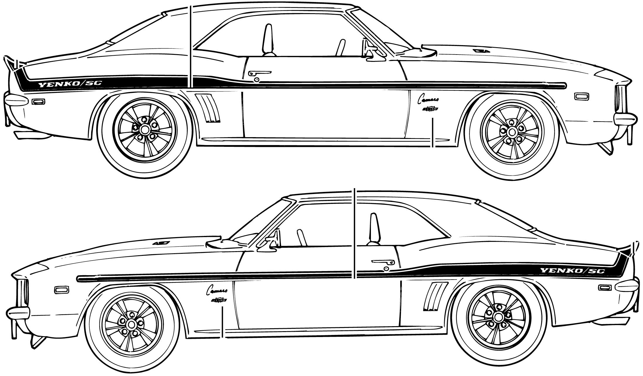 Chevrolet camaro zl1 clipart.