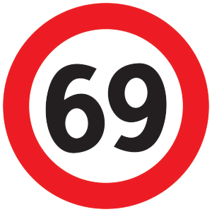 Number 69 Cliparts.