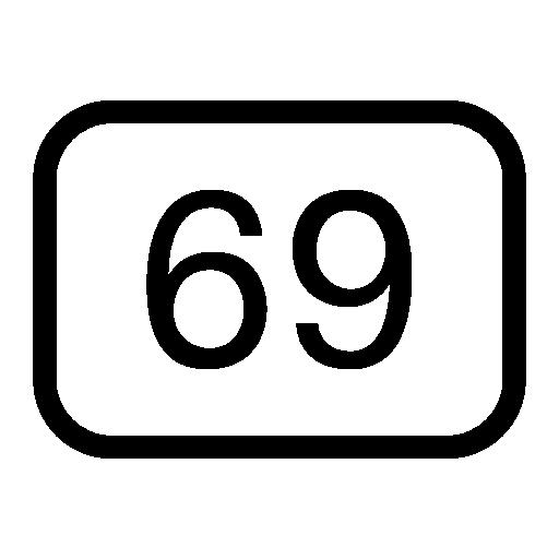 Наклейка 69 PNG.