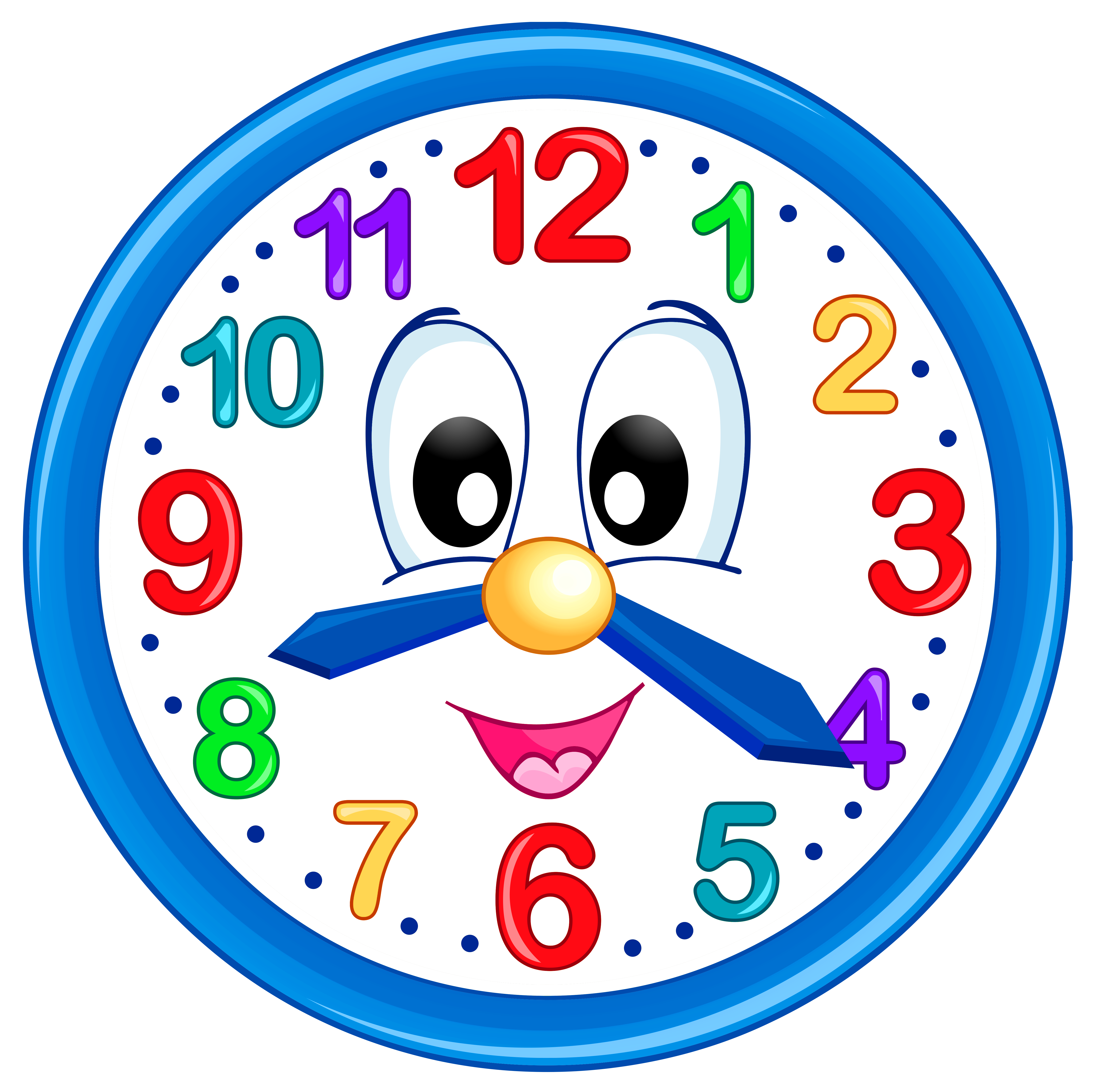Clock Clip Art For 7 25 P M.