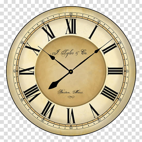 Clock at : transparent background PNG clipart.