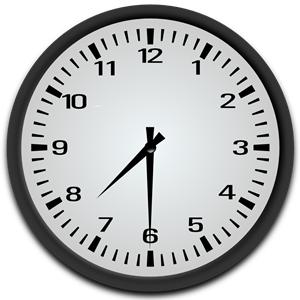 7 30 Clock Clipart.