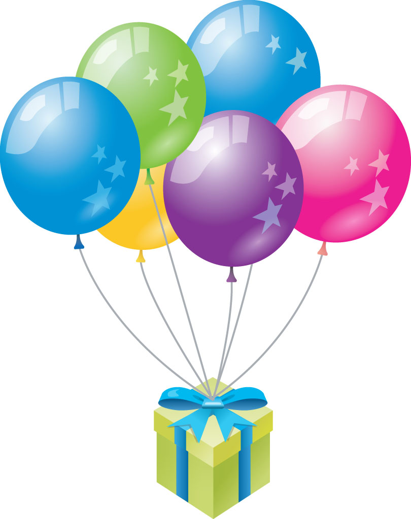 Birthday balloons clipart 7 » Clipart Station.