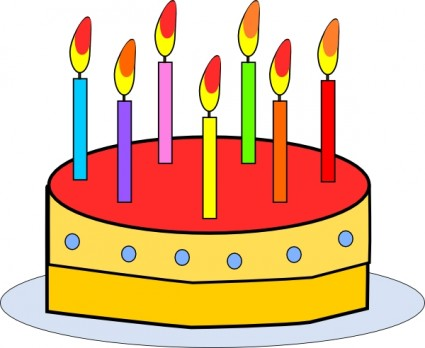 Free Clipart Birthday Cake With Candles.