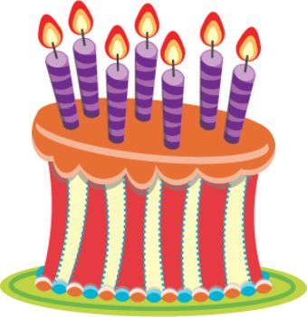 Teacher Birthday Cake Clipart.