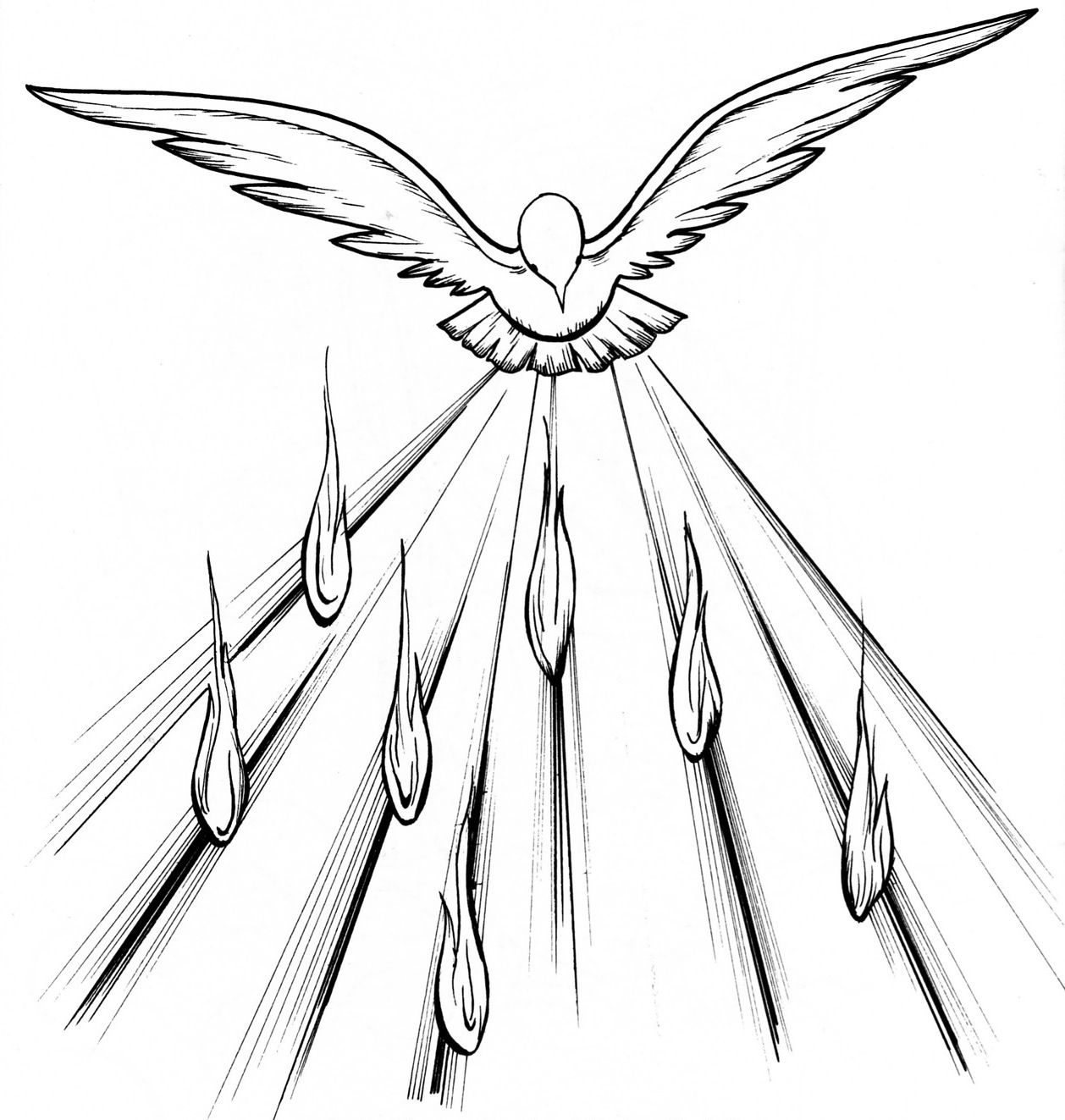 Tongues of Fire Coloring Pages.