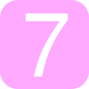 Pink Rounded Square With Number 7 Clip Art At Clker Com Vector.