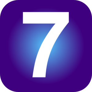 Number 7 Clip art.