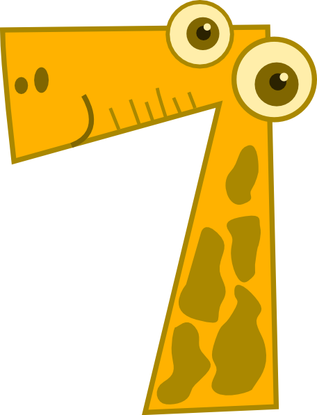 Number 7 Clipart.