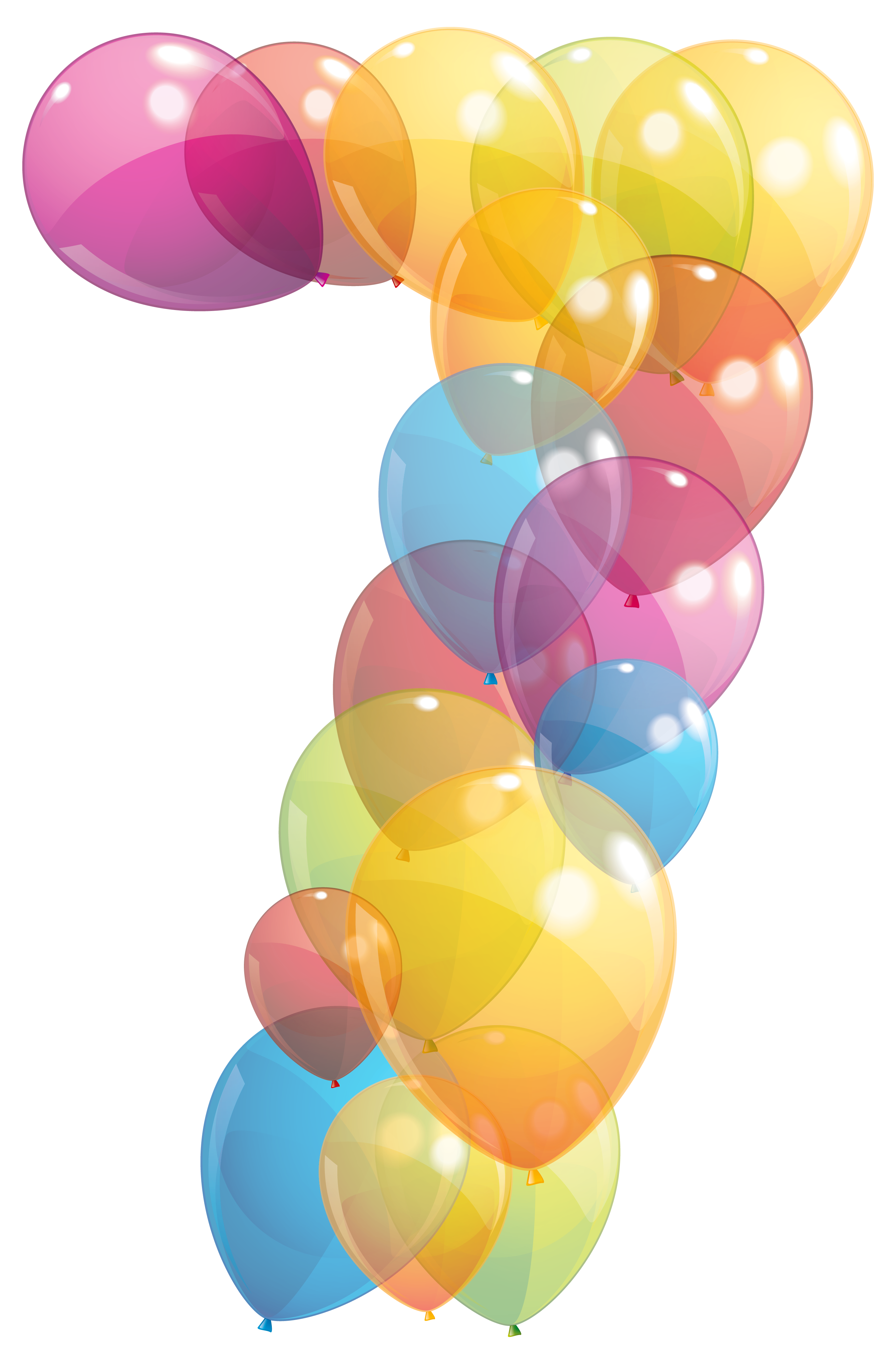 Transparent Seven Number of Balloons PNG Clipart Image.