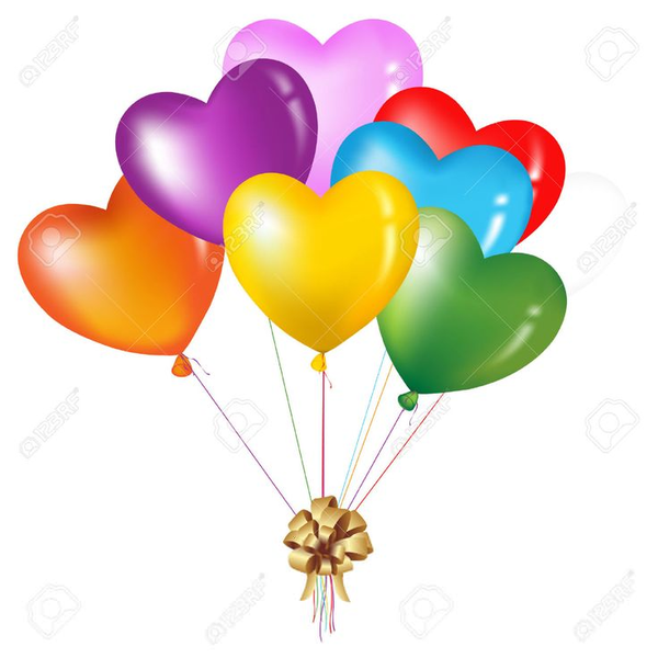 Free Balloon Bouquet Clipart.