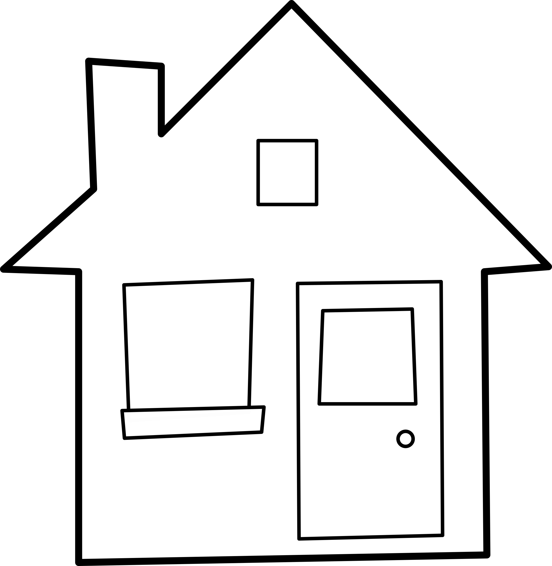 House outline clipart 7 » Clipart Station.
